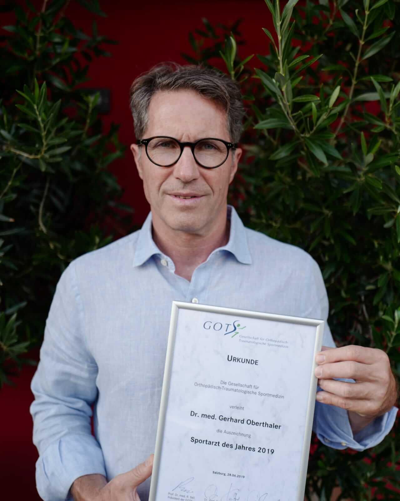 Sportarzt des Jahres – Dr. Gerhard Oberthaler